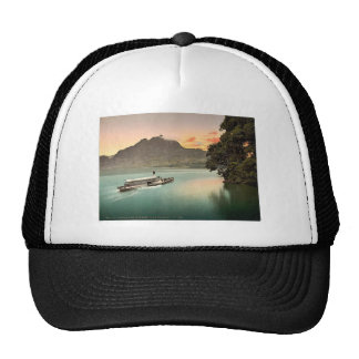 The Lake of the Four Cantons, evening tints, Lake Trucker Hats