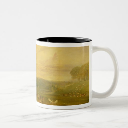 The Lake, Petworth: Sunset, Fighting Bucks Two-Tone Coffee Mug