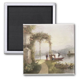 The Lake, Trentham Hall Gardens, from 'The Gardens 2 Inch Square Magnet