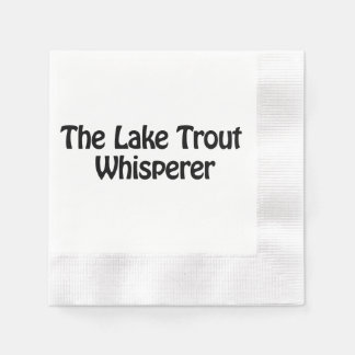 the lake trout whisperer coined cocktail napkin