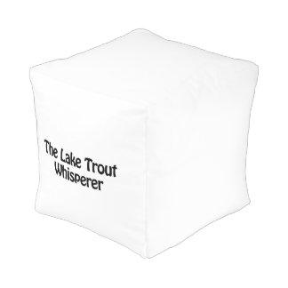 the lake trout whisperer cube pouf