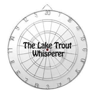 the lake trout whisperer dartboard with darts