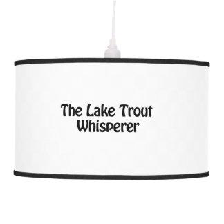 the lake trout whisperer hanging pendant lamp
