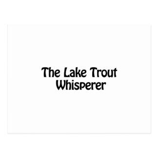 the lake trout whisperer postcard