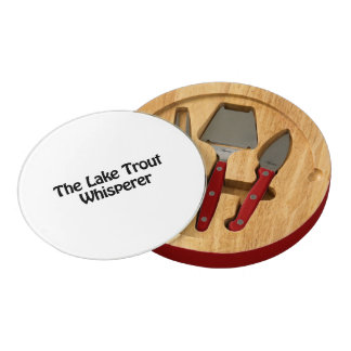 the lake trout whisperer round cheeseboard