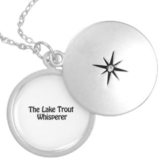 the lake trout whisperer round locket necklace