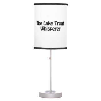 the lake trout whisperer table lamps
