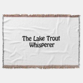 the lake trout whisperer throw blanket