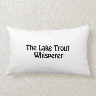 the lake trout whisperer throw pillows