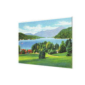 The Lake Whiteface Mt in Distance Canvas Print
