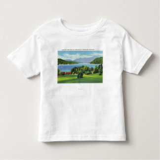 The Lake Whiteface Mt in Distance Tshirts