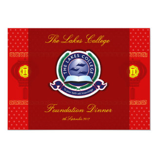 The Lakes College Foundation Dinner invitation