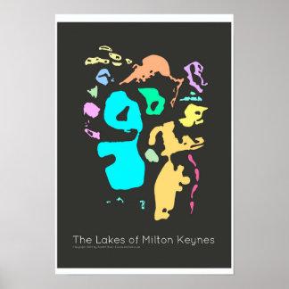 The Lakes of Milton Keynes poster print