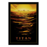The Lakes of Saturns Moon Titan Poster