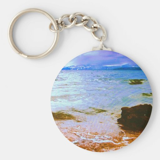 The Lakeview Collection Basic Round Button Keychain
