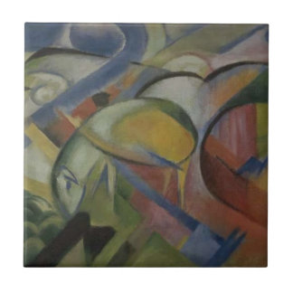 The Lamb by Franz Marc Tile
