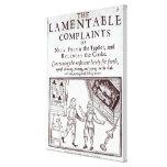 The Lamentable Complaints Canvas Print