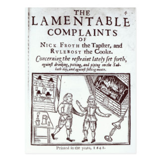The Lamentable Complaints Postcard