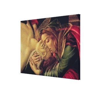 The Lamentation of Christ, c.1490 Canvas Print