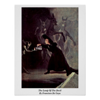 The Lamp Of The Devil By Francisco De Goya Poster