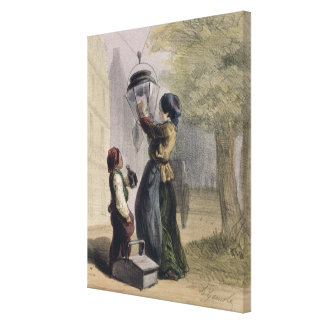 The Lamplighter, from 'Les Femmes de Paris' Canvas Print