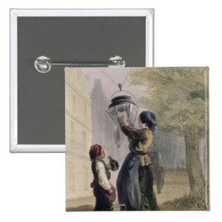 The Lamplighter, from 'Les Femmes de Paris' Pinback Button