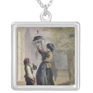 The Lamplighter, from 'Les Femmes de Paris' Silver Plated Necklace