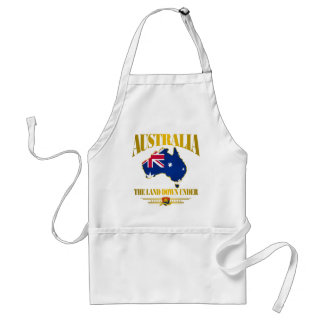 """""""The Land Down Under"""" Adult Apron"""
