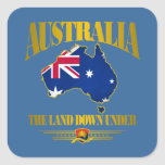 """""""The Land Down Under"""" Square Sticker"""