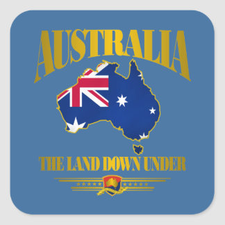 """The Land Down Under"" Square Sticker"