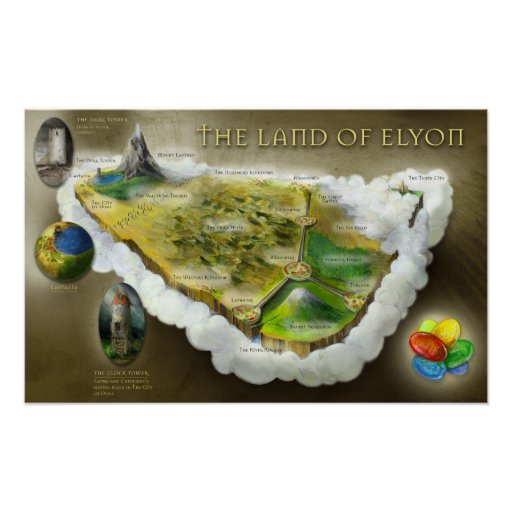 The Land of Elyon | Map Poster