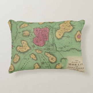 The Land Of Moriah Or Jerusalem Accent Pillow
