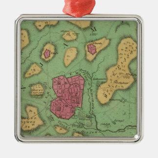 The Land Of Moriah Or Jerusalem Metal Ornament