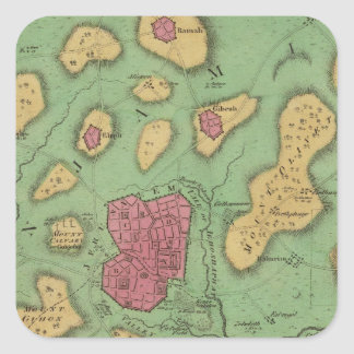 The Land Of Moriah Or Jerusalem Square Sticker
