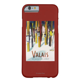 The Land of Sunshine - Skis Standing in Snow Barely There iPhone 6 Case