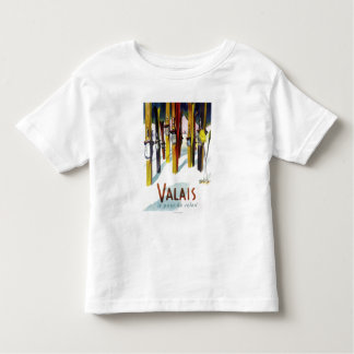 The Land of Sunshine - Skis Standing in Snow Toddler T-shirt