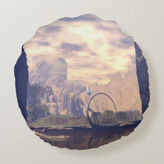 The land of the elves round pillow