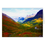 The land of the wood and snow in mountains taken i greeting cards