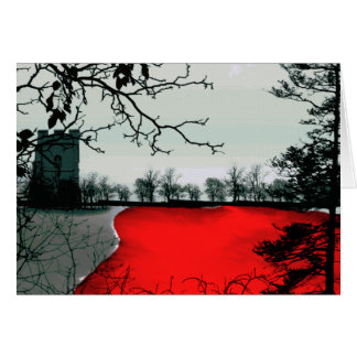 The Land Remembers Gothic landscape fantasy Greeting Card