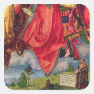 The Landauer Altarpiece, All Saints Day, 1511 2 Square Sticker