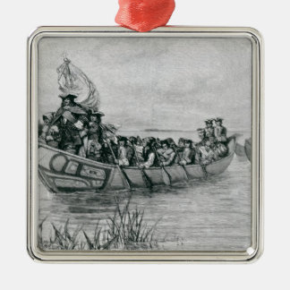 The Landing of Cadillac Christmas Ornament