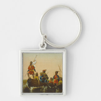 The Landing of Columbus, c.1837 (oil on canvas) Keychains