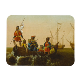 The Landing of Columbus, c.1837 (oil on canvas) Rectangle Magnet