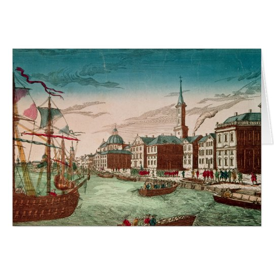 The Landing of English Troops at New York Card
