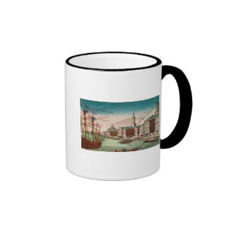 The Landing of English Troops at New York Ringer Coffee Mug