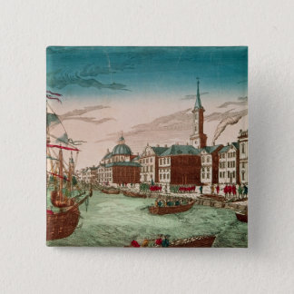 The Landing of English Troops at New York Pinback Button