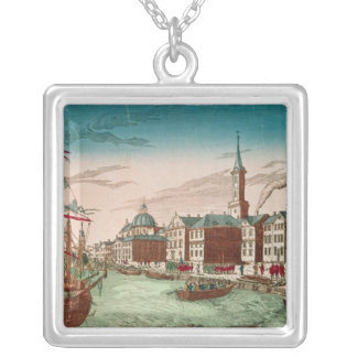The Landing of English Troops at New York Silver Plated Necklace