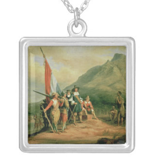 The Landing of Jan van Riebeeck Silver Plated Necklace