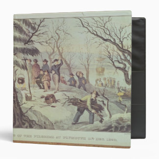 The Landing of the Pilgrims at Plymouth 3 Ring Binder