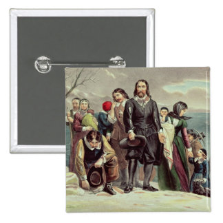 The Landing of the Pilgrims at Plymouth Button